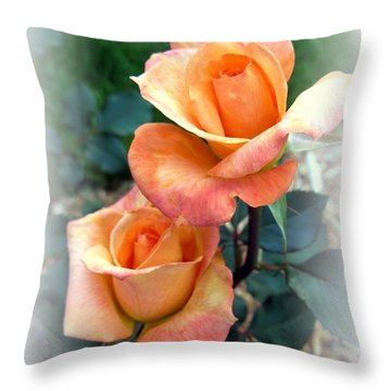 Tea For Two Throw Pillow by Carol Sweetwood