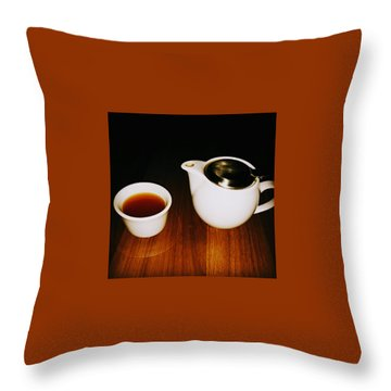 Tea-juana Throw Pillow by Albab Ahmed