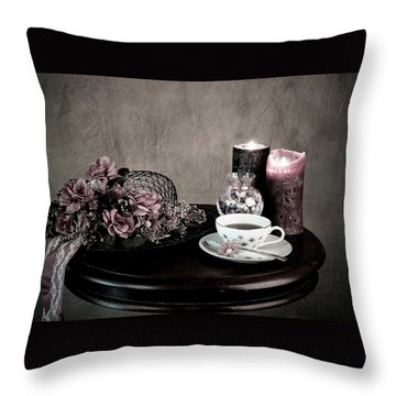 Tea Party Time Throw Pillow
