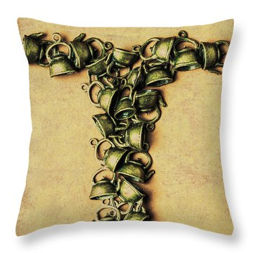 Tea Pot Art Throw Pillow