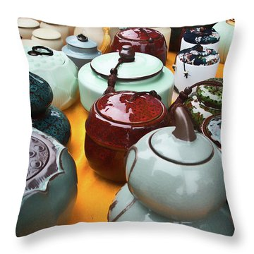Tea Pots For Sale 3 Throw Pillow
