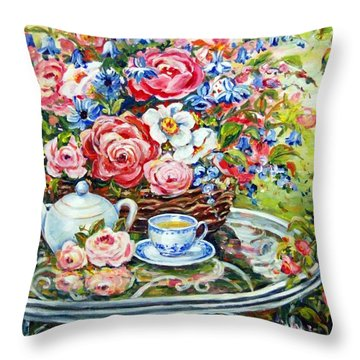 Tea Service Throw Pillow