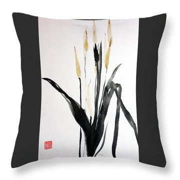 Tea Tails Throw Pillow