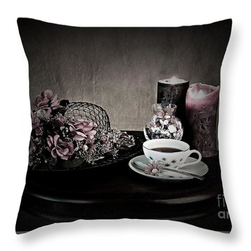 Tea Time 2nd Rendition Throw Pillow