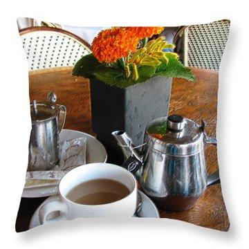 Tea Time Throw Pillow by Doreen Whitelock