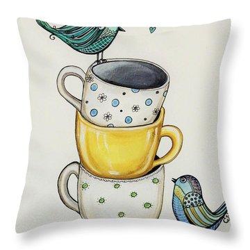 Tea Time Friends Throw Pillow