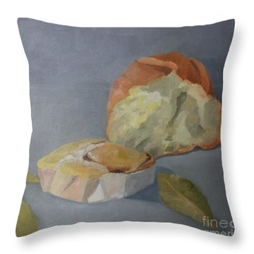 Tea Time Throw Pillow by Genevieve Brown