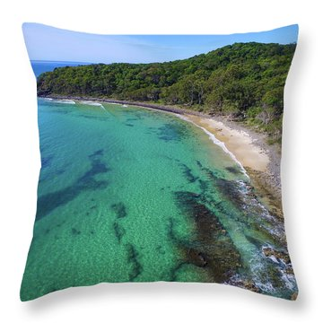 Throw Pillow featuring the photograph Tea Tree Bay In Noosa National Park by Keiran Lusk