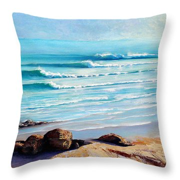 Tea Tree Bay Noosa Heads Australia Throw Pillow