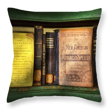 Teacher - Books You Use In School  Throw Pillow by Mike Savad