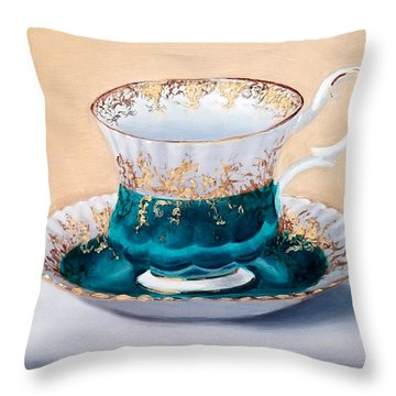 Teacup Throw Pillow