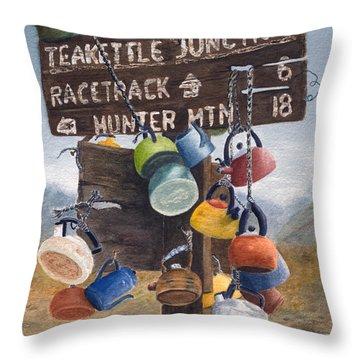 Teakettle Junction Throw Pillow