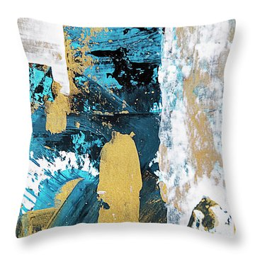Throw Pillow featuring the painting Teal Abstract by Christina Rollo