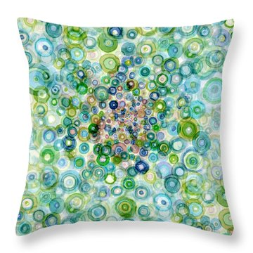 Teal And Olive Concavity Throw Pillow