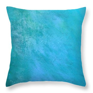 Throw Pillow featuring the painting Teal by Antonio Romero