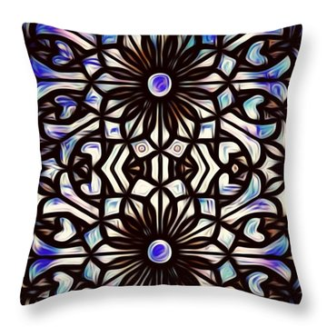 Teal Purple Vibe Throw Pillow