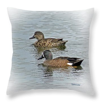Teal Time Throw Pillow