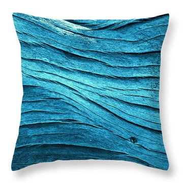 Tealflow Throw Pillow