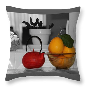 Teapot Throw Pillow