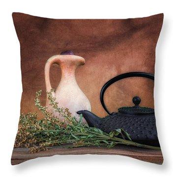 Teapot With Pitcher Still Life Throw Pillow