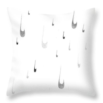 Tear Drop Rain Throw Pillow