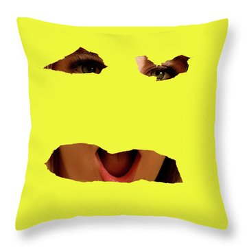 Tear Out Throw Pillow