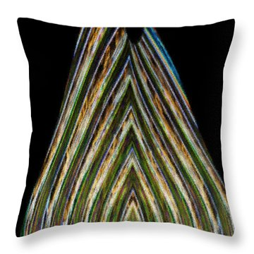Throw Pillow featuring the digital art Teardrop by Wendy Wilton