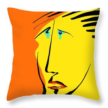 Tears 2 Throw Pillow