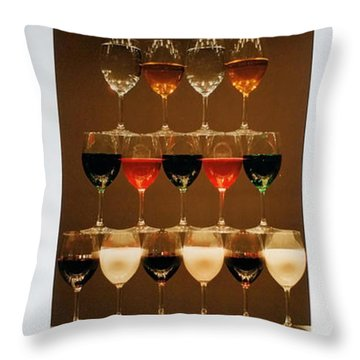 Tears And Wine Throw Pillow