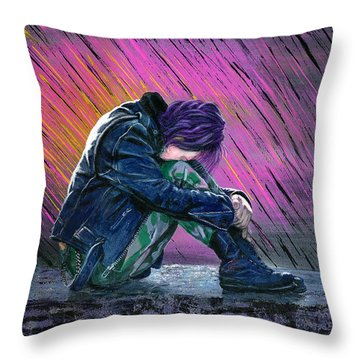 Tears In The Rain Throw Pillow