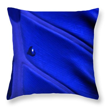 Tears Of Cobalt Throw Pillow