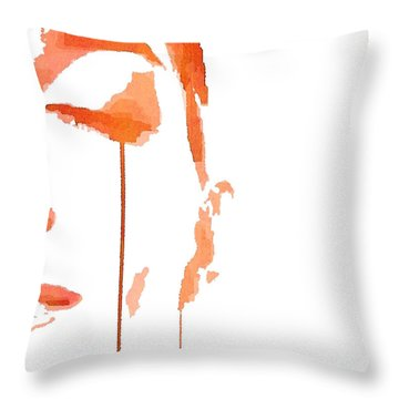 Tears Of Pain Throw Pillow by ISAW Gallery