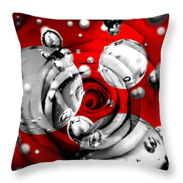 Drops Of Water Throw Pillows