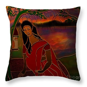 Tears Of Tamasa Throw Pillow by Latha Gokuldas Panicker