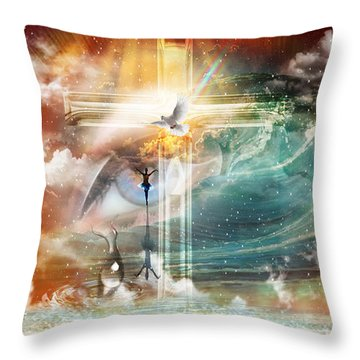 Tears To Triumph Throw Pillow by Dolores Develde