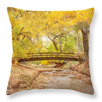 Teasdale Bridge Throw Pillow