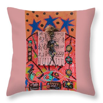 Throw Pillow featuring the painting Teasel Herbal Tincture by Clarity Artists