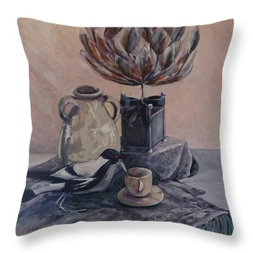 Teatime With Maggie Throw Pillow