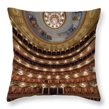 Teatro Colon Performers View Throw Pillow