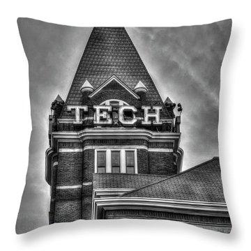 Tech B W Georgia Institute Of Technology Atlanta Georgia Art Throw Pillow