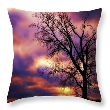 Techicolor Sunset Throw Pillow