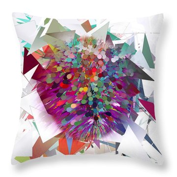 Techno Art By Nico Bielow Throw Pillow