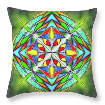 Techno Fantasy Throw Pillow
