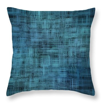 Technology Abstract Background Throw Pillow