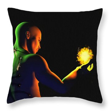 Technomage Uncloaked II Throw Pillow