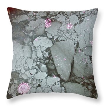 Throw Pillow featuring the photograph Tectonic With Sky Above And Below by Cliff Spohn
