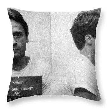 Ted Bundy Mug Shot 1975 Horizontal  Throw Pillow