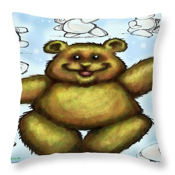 Teddy Bear Throw Pillow by Kevin Middleton