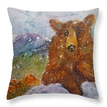Teddy Wakes Up In The Most Desireable City In The Nation Throw Pillow