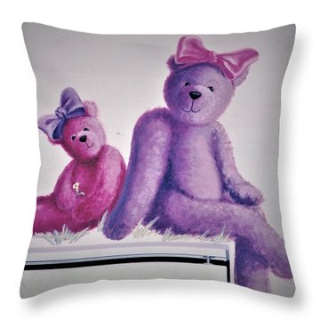 Teddy's Day Throw Pillow